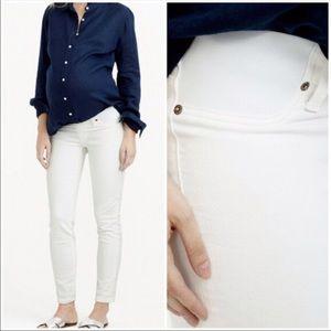 J. Crew Maternity Matchstick White Jeans Sz 28